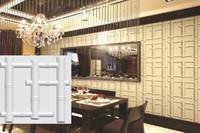 ingrosso disegno di illuminazione di bambù-Pannelli a parete in PVC leggero 3D progettato per impermeabilizzare i pannelli in PVC leggero