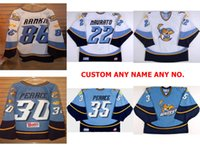 2017 ECHL Mens Womens Kids Toledo Walleye 22 Brandon Naurato 30 Jordan Pearce 100% ricamo Custom Hockey su ghiaccio Maglia Goalit Cut