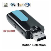 Wholesale Motion Detect Hd Spy Cam - MINI spy key camera DV U8 HD Mini USB Disk Camera DVR Motion Detect Camera Cam SPY Hidden Camera Free Shipping