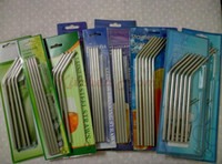 Wholesale Drinking Set - 20oz 30oz 4+1 Straight Drinking Straw and Brush Set For Mugs Tumbler Stainless Steel Straws Bar Bent Curved Drinking Straws