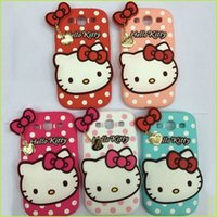 Wholesale Cat Iphone 4s Cases - 3D For Apple Iphone 4S 5S 5G 6 6Plus Hello Kitty Cell Phone Accessories Cases Love Cat Soft Silicone Heart Cover Case