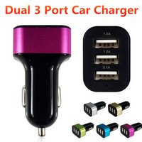 Wholesale portable ac for cars online – Aluminum Alloy V A USB Port Car Charger AC adapter Portable Colorful for iphone Samsung S6 Edge HTC Blackberry Universal