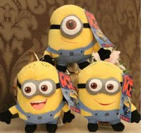Wholesale Minions Stuffed Animals Wholesale - minions 3d eye dolls despicable me 2 plush Toy Minions 3D Eyes Jorge Dave Stewart Toy Movies TV Doll 7 Inch Stuffed Animals Plush in stock