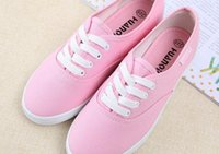 Wholesale Candy Canvas Shoes Women - Canvas Shoes Candy Color Flat Style For Women 8Colors Mix 1prs Free Shipping 0401B11