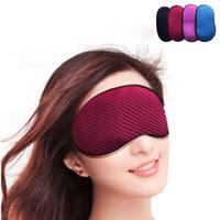 Wholesale ear eye - mulberry silk sleep eye mask ventilation lovely women blackout goggles ear plugs to sleep newest (050007)