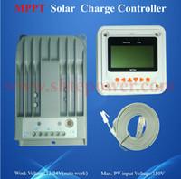 Wholesale solar charging regulator 24v resale online - Aluminium Housing Max PV Input V Battery Charge Auto Work V V A MPPT Solar Regulator