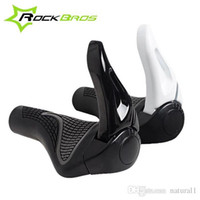 Wholesale Mountain Bike Handlebar Ends - ROCKBROS Bicycle Bike MTB Components Bar ends Handlebars Rubber Grips & Aluminum Barend Handle bar Ergonomic Push On Soft Grips 227