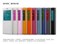 Wholesale S4 Mini View - For Samsung Galaxy S5 S6 Case S4 Mini S4 S3 Note 5 4 3 2 A3 A5 A7 A8 Flip View Smart Sleep Touch Cover Open Window Door Housing