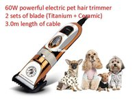 Wholesale 3m Machine - 1509 60W Electric Professional Dog Cat Hair Trimmer Pet Hair Cutting Machine Styling Tools Dog Hair Clippers Tool Kit 3m Power Cord