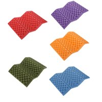 Wholesale Outdoor Seat Cushions Wholesale - Portable Foldable Folding Outdoor Camping Seat Foam XPE Waterproof Chair Cushion Mat Pad 5 Colors! Y0268
