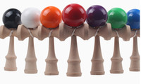 Wholesale Japanese Traditional Game - Hot selling Big size 19*6cm Kendama Ball Japanese Traditional Wood Game Toy Education Gift Amusement Toys 15 colors