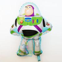 50cm   75cm Buzz Lightyear globos para la historia de juguete globos  partido baloon decoración juguete historieta hoja globos bebé regalo de  cumpleaños ... 40bc9e58bee