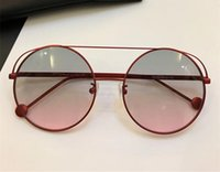 Wholesale Round Silver Charm - 0285 Sunglasses Luxury Brand Designer Charming Round Frame Woman Fashion Sunglasses Top Quality UV Protection Come With Original Package