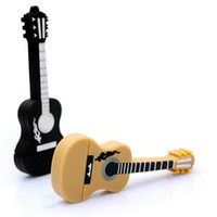 Wholesale Christmas Usb Flash Drives - 2015 Musical Instrument Guitar USB Flash Drive 32GB 64GB 128GB Flash Memory Stick Pen Drive Disk free shipping for Christmas