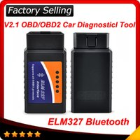 Wholesale Elm 327 Bluetooth Obd2 Porsche - Elm327 Bluetooth CAN bus OBD-II Elm 327 OBD2 Scanner code reader OBD2 EOBD CAN-BUS free shipping