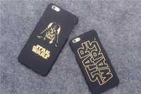 Casi di Star Wars del telefono cassa in oro carattere glassa dura del PC Back Cover per iPhone 6 6p più Darth Vader