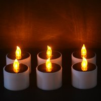 LED Nightlight Solar Energy Candle Nuovo tipo Flicker giallo Solar Power LED Light Candles senza fiamma elettronica
