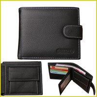 Wholesale Man Wallet Pouch Coin - 2016 top fashion men wallets famous brand genuine leather coin wallet solid short card holder designer purses coin pouch cartera