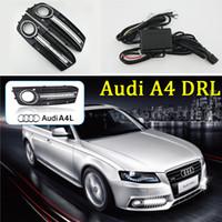 автомобильная крышка автомобиля оптовых-1 пара для Audi A4 B8 2009 2010 2011 2012 авто дневного света с головным светодиодом DRL заменяет противотуманные фары