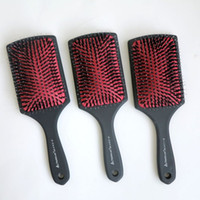 Wholesale Under Coating - Top Quality Hair brush comb Plastic Handle with Rubberized Coated Boar Bristle Hair Brush hair extensions tools Best selling