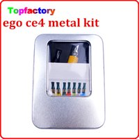 Wholesale Ego Pack Box - eGo CE4 electronic cigarette kits metal Box packing ce4 kit clearomizer 650mah 900mah 1100mah battery all kinds of colors DHL free
