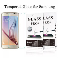 Wholesale Protection Films - For Samsung S6 S7 edge S8 plus Tempered Glass Screen Protector for Samsung j7 j3 prime screen clear film protection with 9H Hardness
