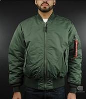 jaqueta de vôo alfa venda por atacado-Queda-Alpha Jacket Ma1 Piloto Ma-1 Flight Flying Jacket Homens Bomber Jacket Atacado