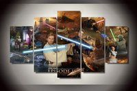 review-review with best reviews - 5Pcs With Framed Printed star wars episode Group Painting room decor print poster picture canvas Free shipping large wall art
