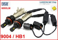 Wholesale Cree Led H13 High Low - 1 Set 9004 HB1 40W 6000LM CREE LED Headlight All in One LUXEON MZ CHIP High Low Beam White 6500K 12 24V Copper Belt H4 H13 9007 High Power
