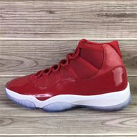 Wholesale Newest Carbon - Newest Air Retro 11 Win Like 96 Gym Red Chicago Authentic Air 11s XI Men Basketball Shoes Sneakers Sports Shoes Real Carbon Fiber