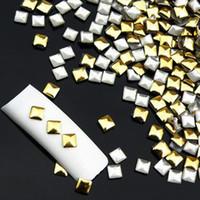Wholesale Blinks Art - 1 Wheel Fashion About 120 Pcs Nail Sticker Blinking Gold Silver 3D nail art Decorations Rhinestones Rivet Nail Beauty Glitter