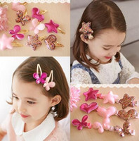Wholesale Cheap Cute Hair Bows - PU Butterfly Heart Stars Cute 3 Design Hairpin Clips Baby Girls Hairbands Hair Bows Baby Hair Ornament Lovely Toddler Hair Clip Gift Cheap