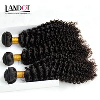 Tissages Mongolian Kinky Cheveux frisés non transformés Mongolian Jerry Curls Cheveux Bundles 3Pcs Lot 8A année mongole profonde Curly Hair Extension