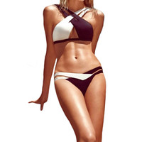 Wholesale Hot Bikini Bandeau - S5Q New Hot Sexy Women Swimwear Bikini Bandeau Push-Up Padded Bra Beachwear Swimsuit AAAESK