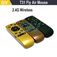 Atacado-2.4G sem fio Fly Air Mouse T31 Mince Android Remote Control 3D Movimento Vara Combo Computer Peripheral frete grátis