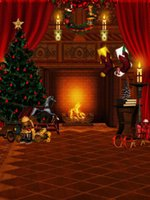 fotografía navidad telones digitales al por mayor-Fondo de fotografía navideña de 5x7 pies Fondo de vinilo personalizado para fotografía digital SD-707