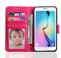 original photo frames - Classic Photo Frame For Samsung S7 Edge Case Flip Cover Wallet Luxury Original Colorful Cute Slim Leather Case For Samsung Galaxy S7 Edge