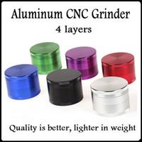 Wholesale Wholesale Aluminum Herb Grinders - Top Quality Aluminum CNC Herb Grinders 4 Layers Tobacco Crusher Grinders Metal Grinder 40 50 55 63 75mm Metal Grinder SharpStone Grinders