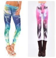 Wholesale Harajuku style New Fashion Printing Geometric Galaxy Leggings Milk Silk Fitness Gym Sports Pants Trousers