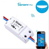 wifi home controller großhandel-Original Itead Sonoff Grundlegende Wi-Fi Smart Switch Modul DIY Drahtlose Fernbedienung Domotica Schalter Wifi Licht Home Controller