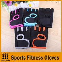 Wholesale Men Half Gloves - Sports Gloves Fitness Gym Half Finger Weightlifting Gloves Exercise Training Multifunction for Men Women Free Shipping