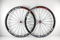 Wholesale Rear Hub 24h - full carbon fiber bike wheels SUPER TEAM 38mm clincher tubular wheelset 271 hub 20-24H glossy matte finishing+brake pads+skewer