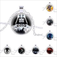 Wholesale Link Clone - 60 styles Star Wars Necklace Unisex Star Wars Jedi Knight Darth Vader Clone Alloy Necklace Pendant Necklace Christmas Gift LA163-2