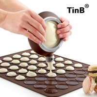 Wholesale Macarons Baking - Macarons mold 2pcs set large silicone pad + special decorative device with color box baking tools package for making cake