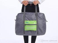 Wholesale Travel Bag Wheel Men - 2015 NEW Foldable Nylon Suitcase Hand Luggage Cabin Small Wheeled Travel Folding Flight Bag Large Capacity Case Travel Insert Handbag LB3