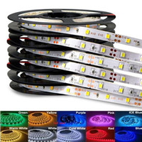 Wholesale dc rgb lights online - High Birght M Led Strips Light Warm Pure White Red Green RGB Flexible M Roll Leds V outdoor Ribbon