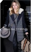 Wholesale Woollen Dresses - free shipping 2014 women's dress code wool coat and Trench thickened zipper fat MM long sections of two sets of woollen overcoat