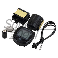 Wholesale Best Cycling Computers - Wireless Speedometer with digit display Cycle Computer Bicycle Meter Speedometer Odometer For Bike Best 100% Brand New A5