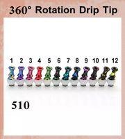 Wholesale Drip Tip Rotation - Metal Drip Tip Plastic 510 Driptips 360 Degree Rotation Mouthpieces Drips Tips For Sub Tank Clearomizer Vaporizer Vs Glass Driptip Fj192