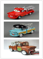 Wholesale Tow Mater Diecast Car - 3pcs lot Large,Pixar Cars Diecast Figure Toys Collections - Matador,Fire Truck,TOW Mater with Musical,Flashing,Pull Back